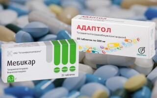 Мебикар или Адаптол – что лучше?  Вся правда о препаратах!