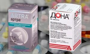 Артра или Дона – что лучше для суставов? При артрозе. Отзывы