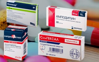 Совместимость препаратов: Конкор и Кораксан, Сотагексал, Верапамил, Амлодипин, Кардиомагнил