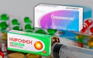 Что лучше: Нурофен или Спазмалгон? Совместимость препаратов