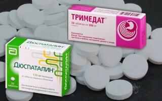 Что лучше: Тримедат или Дюспаталин? При панкреатите? Отзывы. Можно ли применять одновременно?
