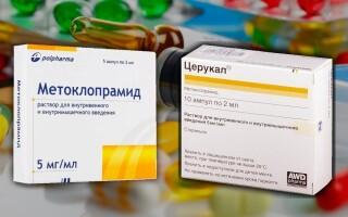 Что лучше: Метоклопрамид или Церукал? Это одно и то же? Инструкция по применению препаратов
