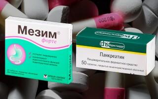 Панкреатин или Мезим – что лучше? Вы узнаете чем они отличаются!