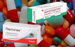 Что лучше Пантогам или Винпоцетин? Можно ли одновременно?