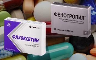 Флуоксетин и Фенотропил. Совместимоть препаратов
