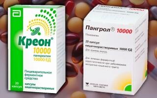 Что лучше: Пангрол и Креон? В чем между ними разница? Описание препаратов. Формы выпуска и цена