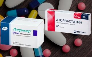 Липримар или Аторвастатин – что лучше? Что скрывается за названиями препаратов?
