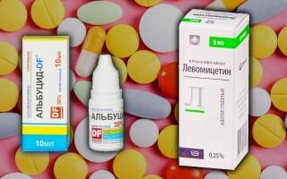 Глазные капли Альбуцид или Левомицетин: что лучше? Можно ли одновременно?