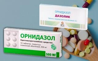Дазолик или Орнидазол: что лучше? В чем разница? Отзывы