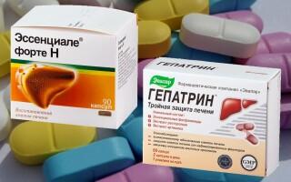 Гепатрин или Эссенциале форте. Что лучше? В чем разница между препаратами?
