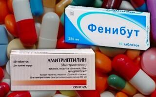 Амитриптилин и Фенибут, совместимость препаратов. Что лучше.