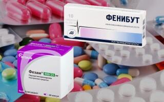 Что лучше: Фезам или Фенибут? Совместимость препаратов