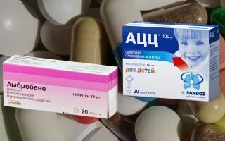 АЦЦ или Амбробене – что лучше? Основные преимущества препаратов!